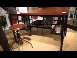 high rise kitchen table high rise counter height kitchen table island by bassett mirror