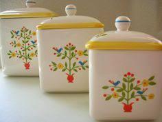 vintage metal kitchen canister set mcm kitchen baking collection