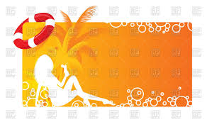 holiday cocktails clipart silhouette of woman with cocktail on the beach holiday resort