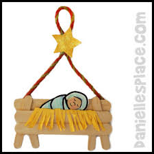 baby jesus in a manger craft stick bible craft from www