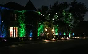 Outdoor Colored Christmas Lights by Highland Park Outdoor Lighting Dallas Landscape Lighting