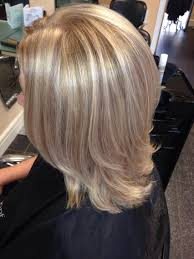 Ash Blonde Highlights On Brown Hair Chunky Blonde Highlight With A Mocha Brown Base And Short Hair Bob