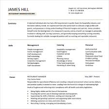 Restaurant Owner Resume Sample by Sample Manager Resume Template 9 Free Samples Examples Format