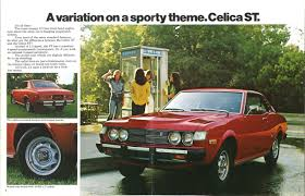 japanese pony car 1975 toyota celica brochure hemmings daily