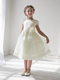 flower girl dress floral lace bodice organza dress