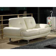 la maison du canape canapé cuir 2 places swan cuir supérieur beige la maison du