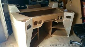 Computer Built Into Desk Computer Desk Blueprints Rustic Computer Desk Diy Golbiprint Me
