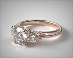 gold diamond rings 17929r14 three diamond engagement ring with scroll