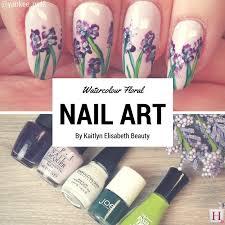 nail art an easy floral watercolour design