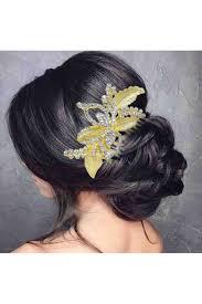 hair broach gold plated hair brooch
