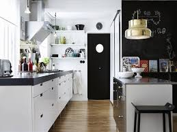 White Kitchen Cabinets With Black Granite Countertops by Cabinets U0026 Drawer Awesome Scandinavian Kitchen Design With White