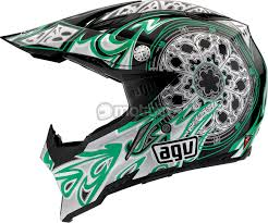 green motocross helmets agv ax 8 gothic flame cross helmet motoin de