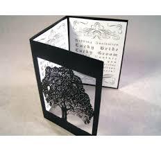 tri fold wedding invitations bird tree laser cut paper place cards