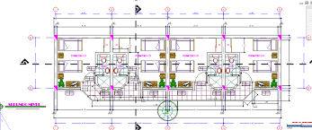 Two Level Floor Plans Two Level Lodging With Bathrooms 2d Dwg Design Section For Autocad
