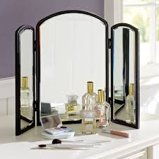 Tri Fold Mirrors Bathroom Trifold Mirror Pbteen