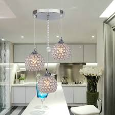 3 light kitchen fixture dinggu 3 lights modern crystal ball pendant light fixture flush