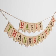 burlap thanksgiving banner burlap happy thanksgiving garland world market