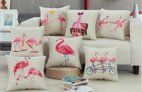 decorative pillows home goods fashion flamingo decorative pillow for sofa linen home goods throw