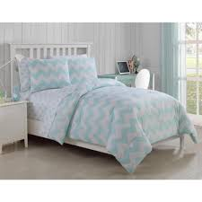 Twin Bedding Sets Girls by Teen Girls Soft Aqua White Chevron Polka Dot Comforter Sheets Twin