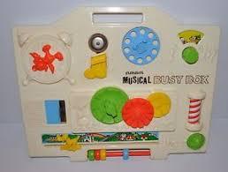 playskool musical busy box vintage crib music toy walt disney