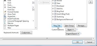 customize ribbon word 2013 customizing the ribbon page