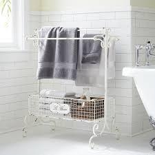 Le Bain Antique White Towel Rack Pier 1 Imports