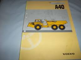 volvo ce a40 articulated hauler operator u0027s manual cea services