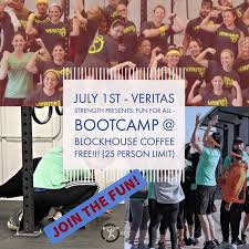 bootcamp in the backyard with veritas strength u2014 blockhouse coffee