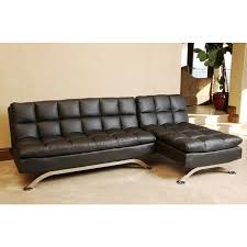 Black Leather Sofa With Chaise Abbyson Living Bella Cream Leather Sofa Sectional Centerfieldbar Com