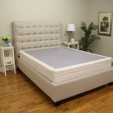 Bed Frame For Boxspring And Mattress Low Profile Bed Foundation Foter
