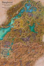 Bal Foyen Treasure Map Bangkorai Map The Elder Scrolls Online Game Maps Com