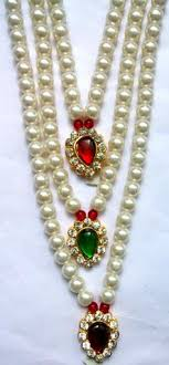 costume jewelry pearl necklace images Krishna costume jewelry 3 step pearl necklace kalanjali collections jpg