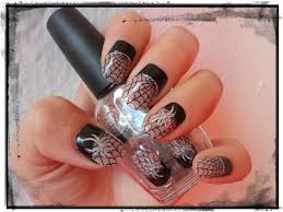 halloween spider nail design impress nails web and spider design