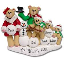 personalized ornaments christmas family of five personalized christmas ornament