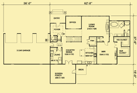 ranch homes floor plans ranch house plans for a passive solar 1 bedroom home