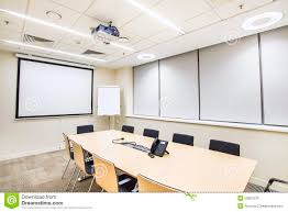 small meeting or training room with tv projector stock photo