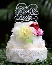 customized cake toppers personalized wedding cake wedding corners