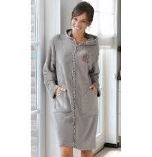 Daxon Robe Grande Taille by Indogate Com Robe De Chambre Noir Femme
