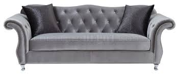 Grey Silver Sofa Sofa In Silver Tone Fabric 551161 By Coaster W Options