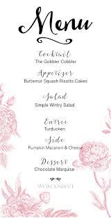 womanista menu thanksgiving feast