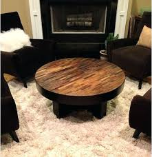 round wood coffee table rustic round wood side table tables iron and wrought patio coffee s