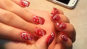 christmas red nails color designs youtube