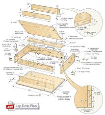 Desk Plans Woodworking Lap Desk Woodworking Plan