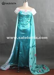 costume for hot sale printed elsa birthday costume for women