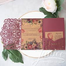 wedding pocket invitations graceful heart tri fold laser cut pocket wholesale wedding