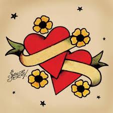 download heart tattoo with banner danielhuscroft com