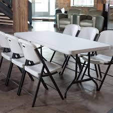 dining room comfortable folding chairs with white iron frame for