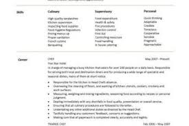 Sample Resume For Chef Position by Pdf Chef Resume Template Summary Skills Now What Review 30