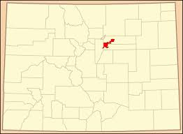 A Map Of Colorado by File Map Of Colorado Highlighting Denver County Colored Svg