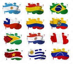 South America Flags South America Countries Flag Blots U2014 Stock Photo Ruletkka 18904257